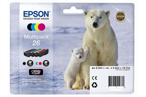 Cartouche d'encre Epson Pack Ours T2616 4 CL