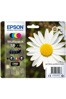 Cartouche d'encre Pack Paquerette T1816 XL 4 COULEURS Epson