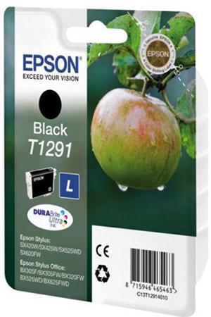 cartouche d 39 encre epson pomme t1291 noir darty. Black Bedroom Furniture Sets. Home Design Ideas