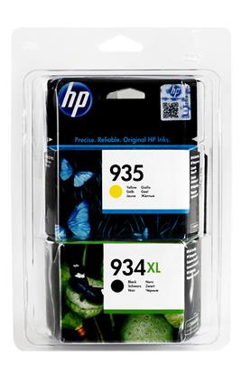 Pack 4 cartouches d'origine HP 934XL noir, 935C cyan, 935M magenta, 935Y jaune