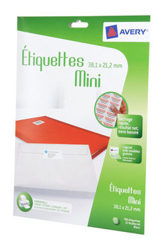 Papier d'impression MINI ETIQUETTES ADHESIVES J8651-12 Avery Dennison