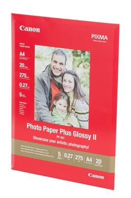 Canon Papier photo glacé Extra II PP-201 A4 - 20 Feuilles - 260g/m²