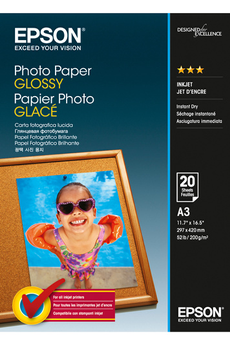 Papier d'impression Papier Photo Glacé 200g A3 Epson