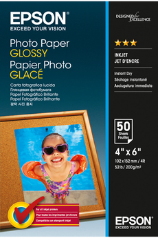 Papier d'impression Papier Photo Glacé 200g 10x15 Epson