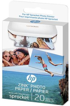 Papier photo instantané Hp Papier photo à dos adhésif Sprocket 20 feuilles