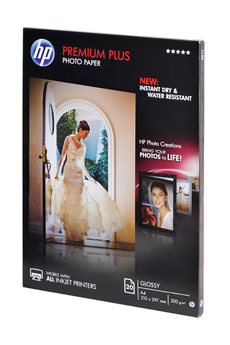 Papier d'impression PREMIUM PLUS PHOTO A4 300G 20 FEUILLES Hp