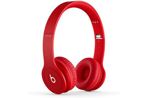 casque arceau beats solo monochromatic hd by dr dre rouge. Black Bedroom Furniture Sets. Home Design Ideas