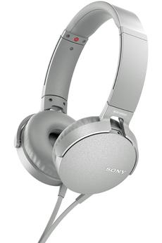 Casque audio Sony MDR-XB550AP BLANC