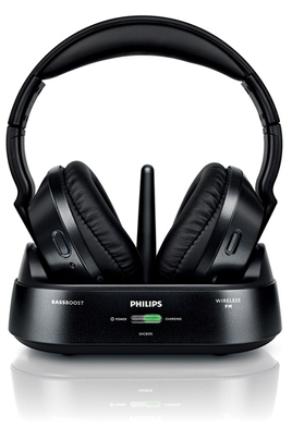 Casque TV sans fil SHC8595/00 BK UHF Philips