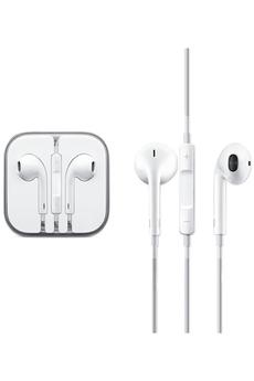 Ecouteurs Apple Ecouteurs intra-auriculaires Earpods mini-jack 3,5 mm avec microphone