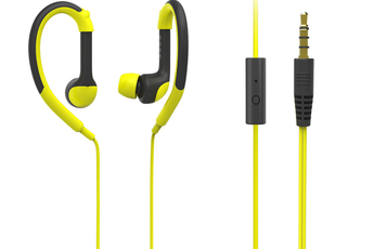 Casque intra-auriculaire URBAN SPORT JAUNE Dcybel