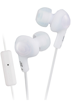 Casque intra-auriculaire GUMY + blanc Jvc
