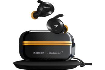 Ecouteurs Klipsch Ecouteurs Intra True Wireless Sport Mc Laren Edition, boitier étanche et chargeur induction fournis