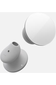 Ecouteurs Microsoft Surface Earbuds sans fil avec boitier de recharge - Gris