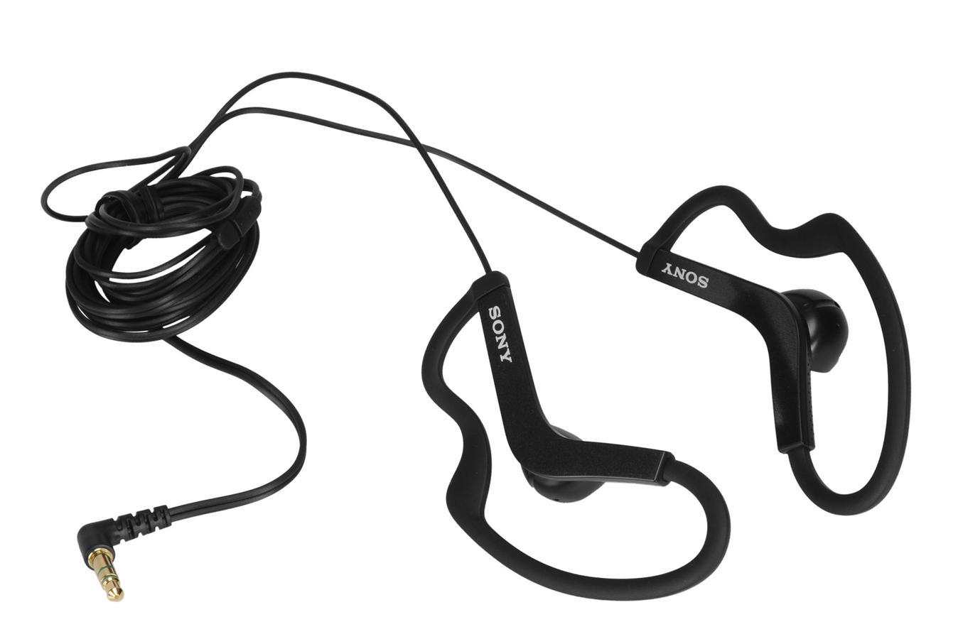 casque intra auriculaire sony mdr as200 sport noir. Black Bedroom Furniture Sets. Home Design Ideas