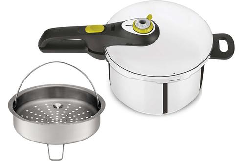 Capacité 8 litres Ouverture et fermeture par bouton 2 programmes de cuisson : viande ou légume Tous feux dont induction