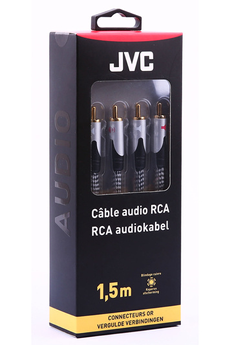 Cable audio 2 RCA CABLE M/M 1,5M Jvc