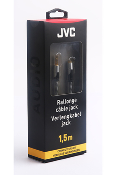 Cable audio JACK 3,5MM M/F 1,5M Jvc