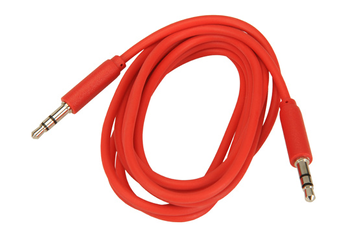 Cable audio JACK 3,5MM 1,5M ROUGE Temium