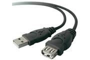 Câble USB Belkin Rallonge USB Mâle A / Femelle A 1,8M