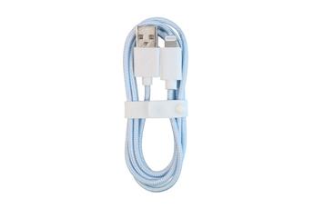 Câble USB Citroen AMI cable USB A vers Lightning Bleu