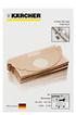 sac aspirateur karcher sac mv2 darty. Black Bedroom Furniture Sets. Home Design Ideas