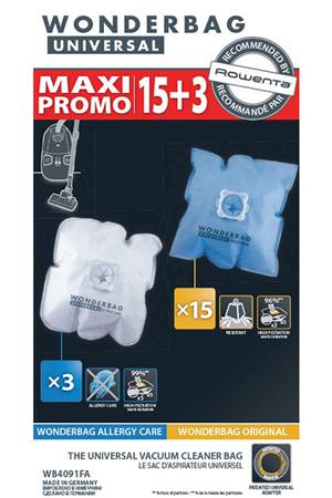 sac aspirateur rowenta sac wonderbag universal x18 wb4091fa darty. Black Bedroom Furniture Sets. Home Design Ideas
