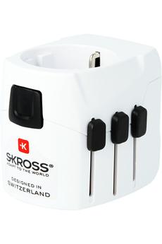 Alimentation électrique Adaptateur monde PRO LIGHT USB Skross