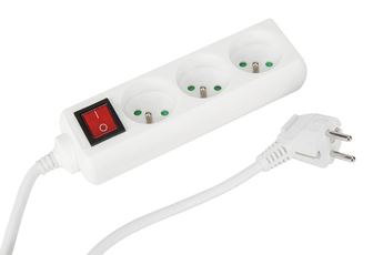 Alimentation électrique Multiprise 3 prises + interrupteur 1,5M Temium