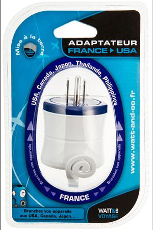 Alimentation lectrique watt co adaptateur secteur france usa adaptateursecteur darty - Adaptateur prise etats unis france ...