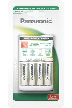 Chargeur de piles EVOLTA 1,5H + 4 PILES AA Panasonic