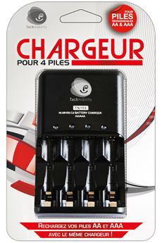 Chargeur de piles CHARGEUR 4 PILES Techmobility