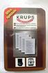 Krups DETARTRANT EXPRESSO X4 photo 1