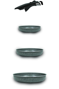 Poele / sauteuse Pratika stone set3P OPPSET02 Bialetti