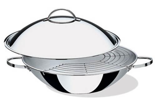 poele sauteuse lagostina wok couvercle accademia 30 cm 3578631. Black Bedroom Furniture Sets. Home Design Ideas