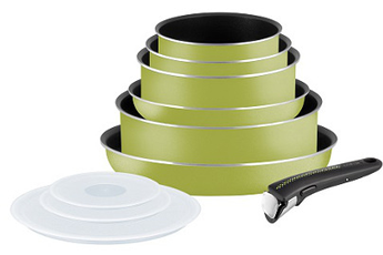 Poele / sauteuse INGENIO ESSENTIAL VERT 10 PIECES Tefal