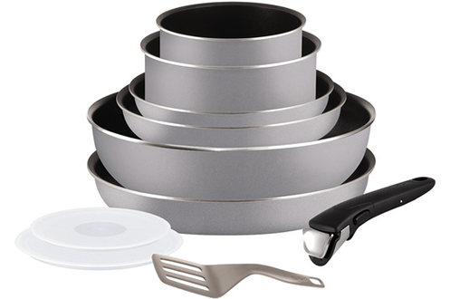 Poele / sauteuse INGENIO ESSENTIAL GRIS 10 PIECES Tefal