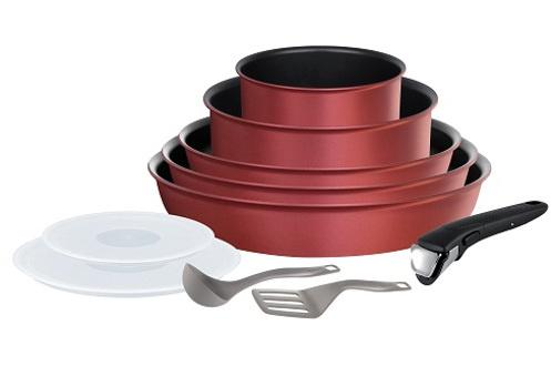 Revêtement anti-adhésif Titanium Pro Poignée amovible 100% sûre et garantie 10 ans Intérieur anti-adhésif : nettoyage facile Compatible tous feux dont induction