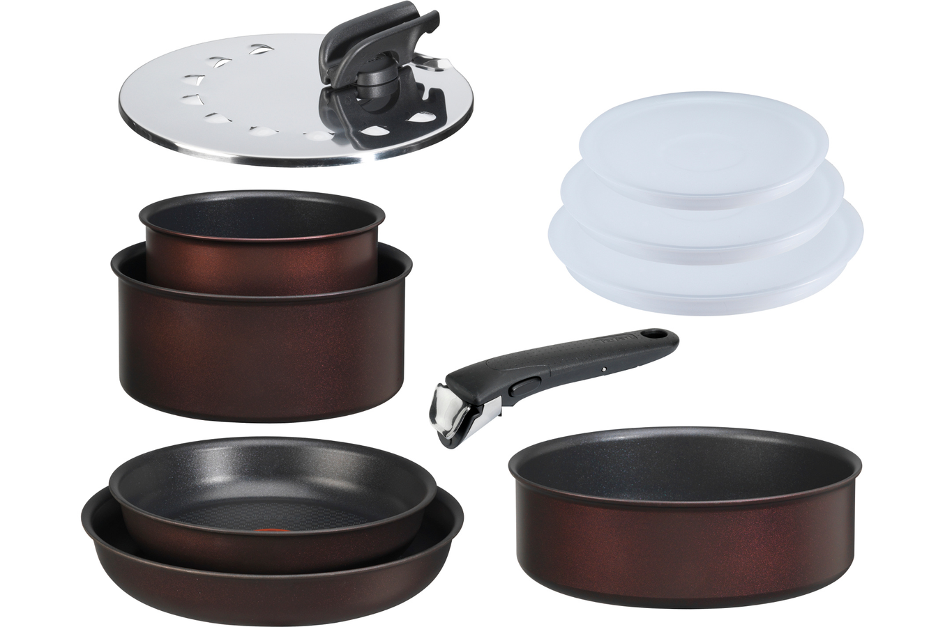 Poele sauteuse tefal ingenio hard titanium 10 pieces for Poele de cuisine