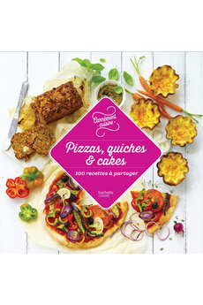 Livre de cuisine PIZZA QUICHE CAKE INCONTOURNABLE Hachette