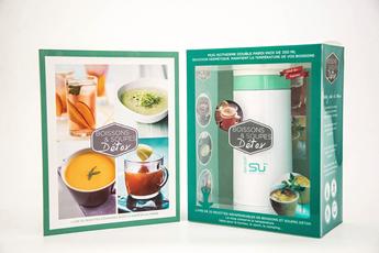 Livre de cuisine COFFRET BOISSONS ET SOUPES DETOX I2c