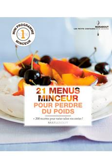 Livre de cuisine 21 MENUS MINCEUR POUR PERDRE DU POIDS Marabout