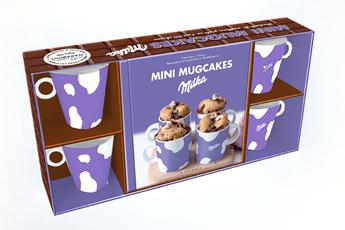 Livre de cuisine COFFRET MINI MUGCAKES MILKA Marabout