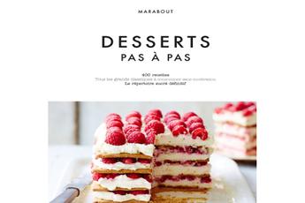 Livre de cuisine DESSERTS PAS A PAS Marabout