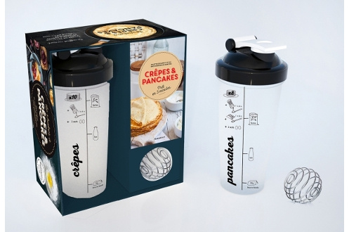 Livre de cuisine Marabout COFFRET SHAKER A CREPES ET PANCAKES