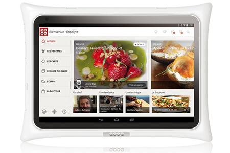 tablette culinaire qooq tablette qooq v3 blanc darty. Black Bedroom Furniture Sets. Home Design Ideas