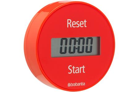 Minuteur brabantia minuteur magnetique rouge darty - Minuteur 2 minutes ...