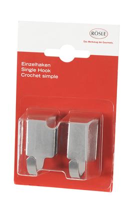 cr dence rosle crochets simples acier x2 1331477. Black Bedroom Furniture Sets. Home Design Ideas