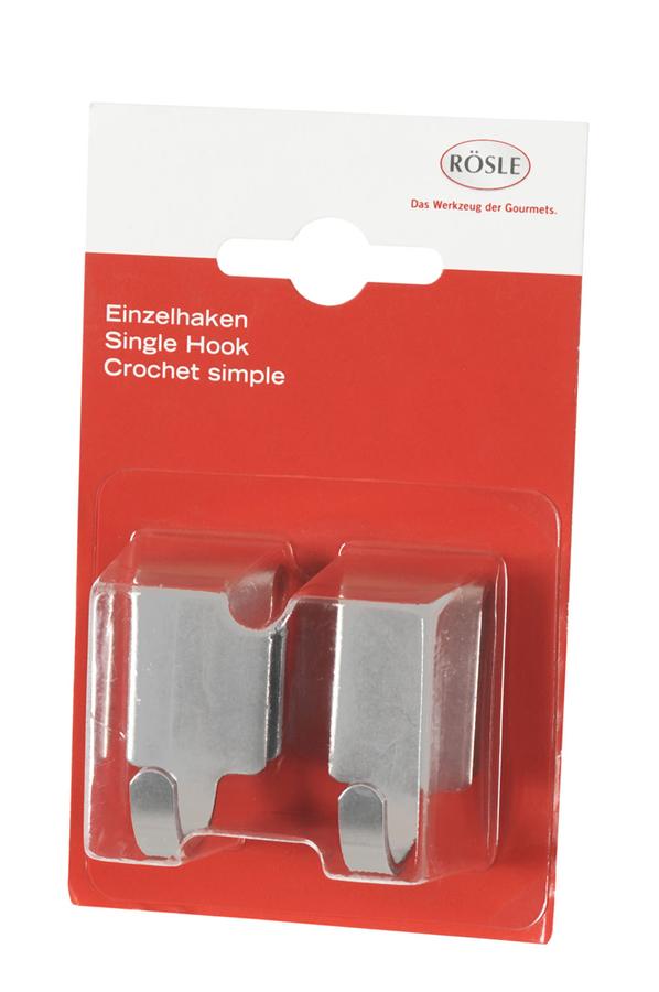 cr dence rosle crochets simples acier x2 1331477 darty. Black Bedroom Furniture Sets. Home Design Ideas