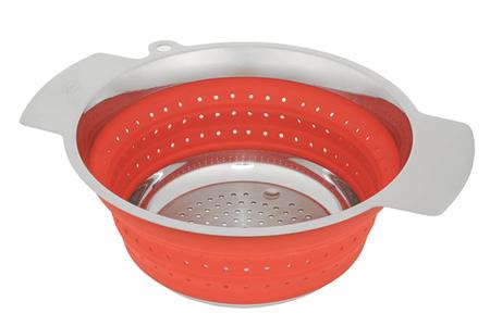 ustensile de cuisine rosle passoire pliable acier silicone rouge darty. Black Bedroom Furniture Sets. Home Design Ideas